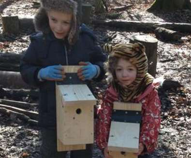 Family Bird Box Building at Suffolk Wildlife Trust Carlton and Oulton Marshes