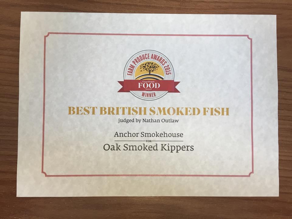 Anchor Smokehouse - Award