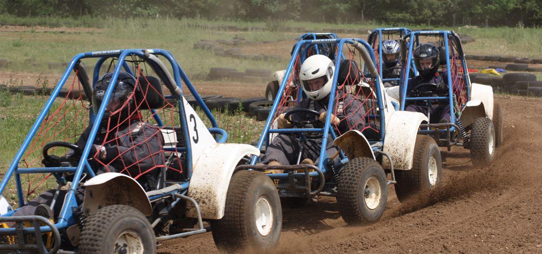 Beacon Rally Karts On the Track