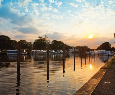 Towns and villages - Beccles - Beccles Quay at sunset