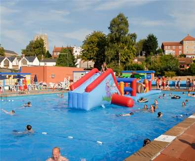 TTDA - Beccles Lido - Giant inflatable
