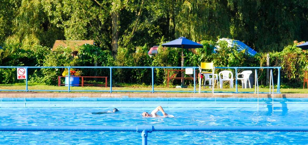 Beccles Lido on the edge of the River Waveney