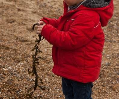 Child on Dunwich Beach