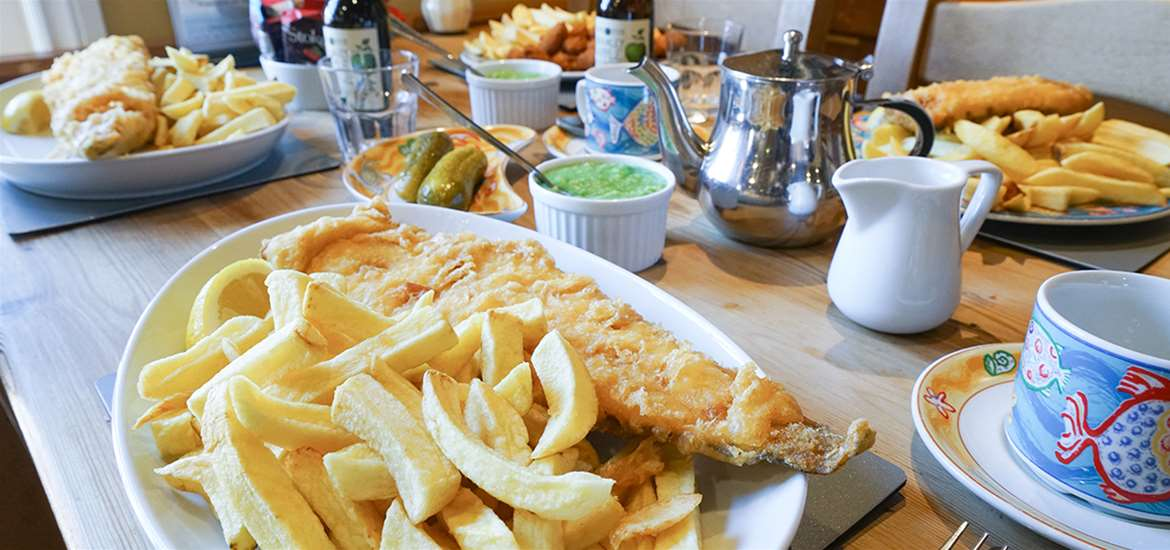 FD - Aldeburgh Fish and Chips - Food on Table