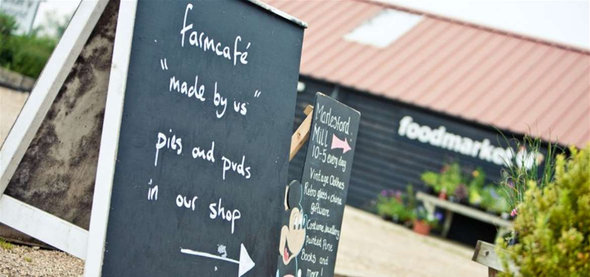 Farm cafe and shop at Marlesford