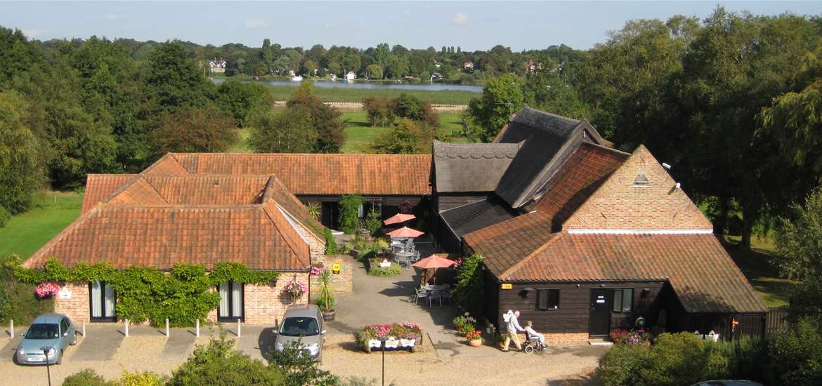 Where to Stay - Ivy House Country Hotel - Oulton Broad - vy House Country Hotel from the Sky