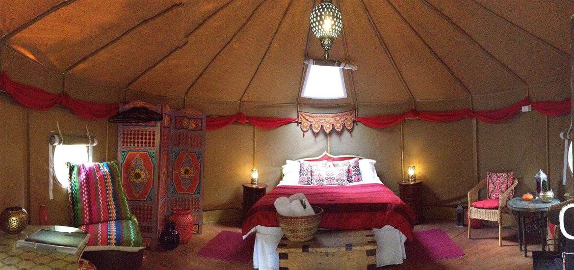 Yurt Inside - Kenton Hall - Accomodation