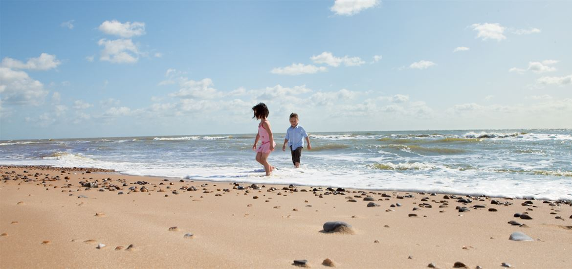 Kids on the Beach at Lowestoft