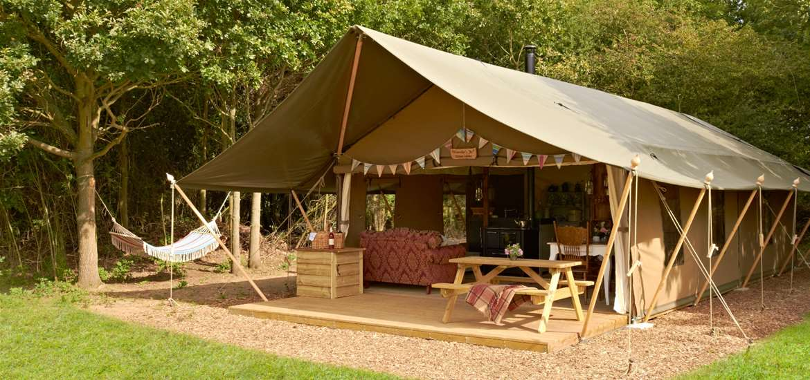 Secret Meadows - Luxury Lodge Tent Exterior - Accommodation