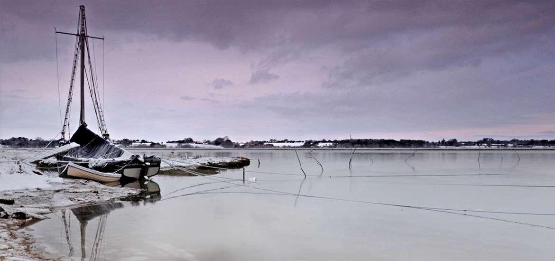 Deben in winter by Gill Moon