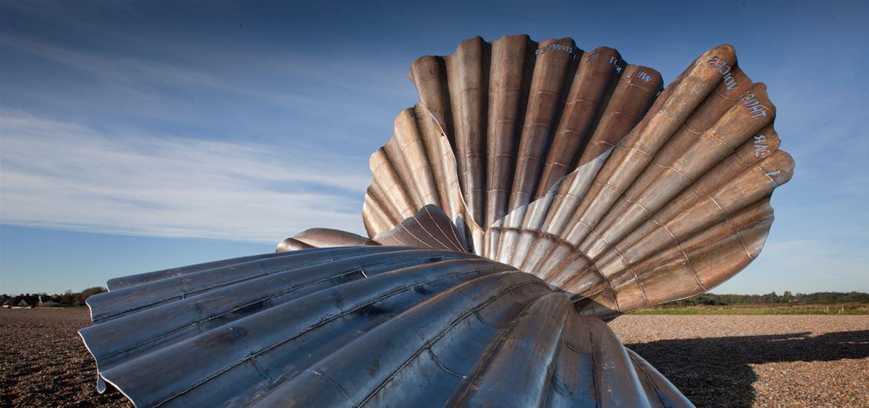 Maggi Hambling-Scallop-Aldeburgh Beach