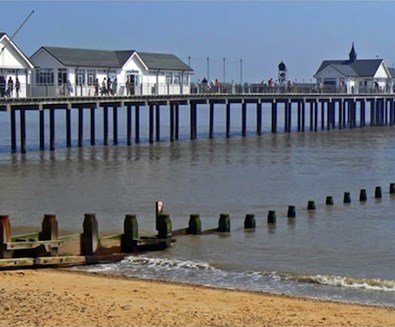 Enjoying Southwold Pier