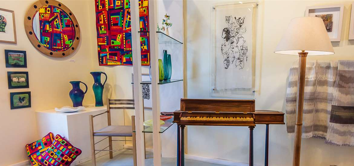Things to Do - Attractions - Suffolk Craft Society - Piano and Lamp