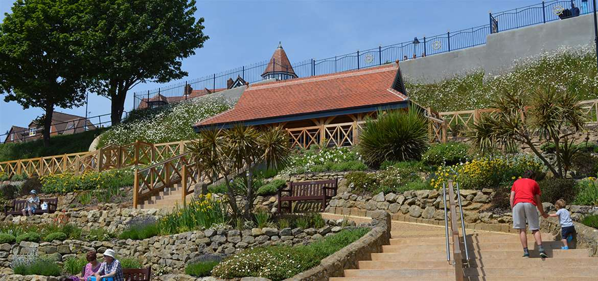 TTDA - Felixstowe Seafront Gardens - View from Steps