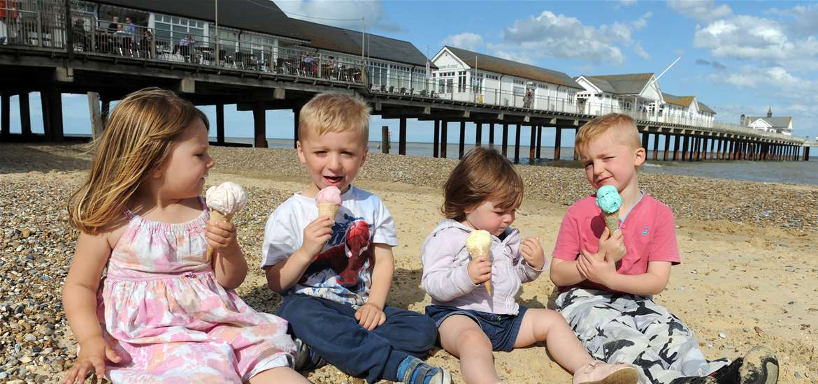 Southwold Pier and Ice Cream - The Suffolk Coast