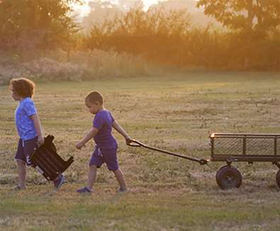 WTS - Boundary Farm Glamping - Kids with Cart