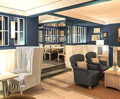 WTS - The Swan Hotel - Bar with Fire