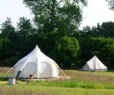 WTS - Wardley Hill Campsite - Lotus Tents in Meadow