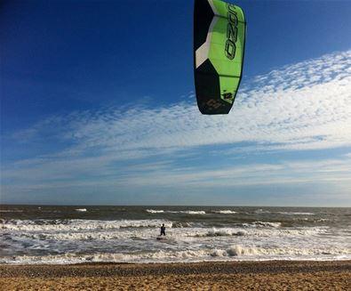 Kitesurfing at Walberswick