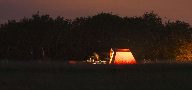 WTS- Wardley Hill Campsite - Camping at Night