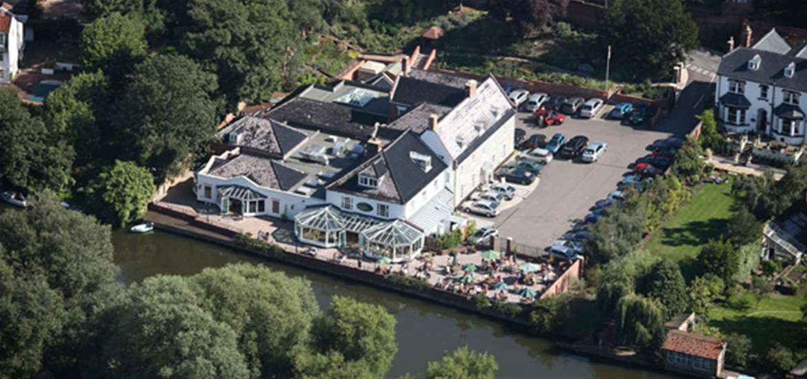 Waveney House Hotel in Beccles - Arial View