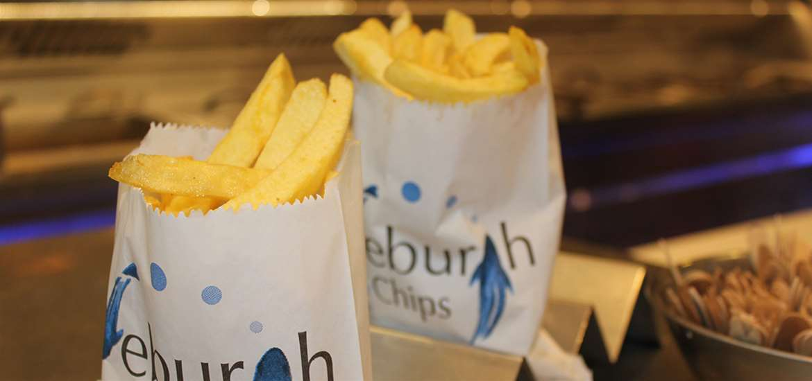 Where to Eat - Eating Out - Aldeburgh Fish and Chip Shop - Bags of Chips