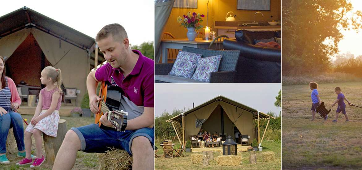 Where to Stay - Boundary Farm Glamping - Saxmundham - Collage 3