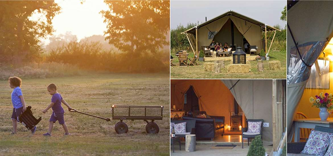 Where to Stay - Boundary Farm Glamping - Saxmundham - Collage 4