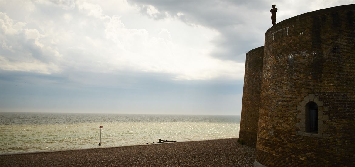 Man on Martello-Aldeburgh-Photographer Adrian Green