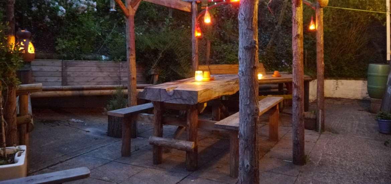 Alfresco dining on the Suffolk Coast