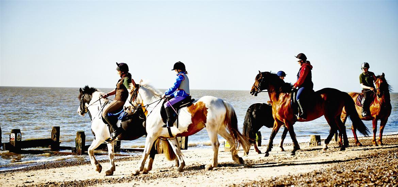 Beach Riding at Lowestoft
