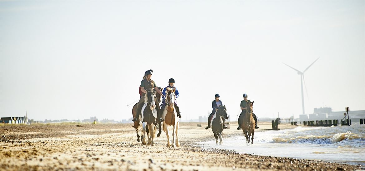 Horse riding on Lowestoft Beach-Adrian Green Photographer