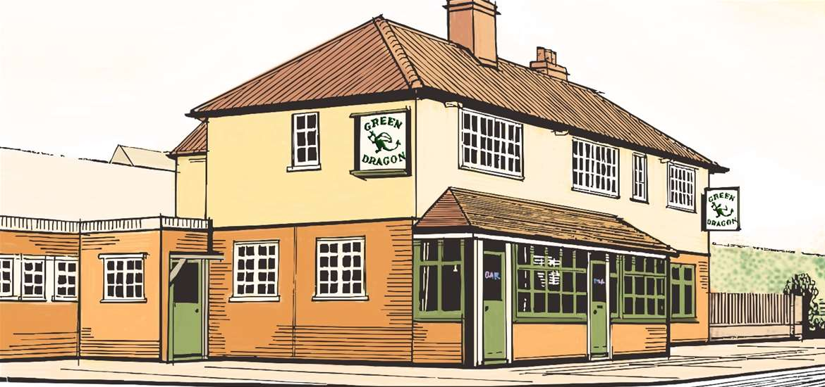 FD - Green Dragon Free House - Exterior drawing