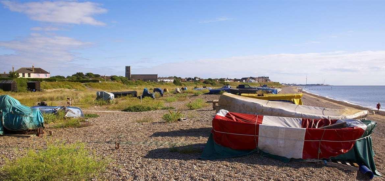 TTDA - Pakefield Beach -boats on beach - (c) Jon Gibbs