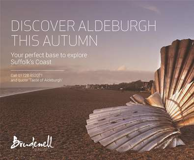 Get a 'Taste of Aldeburgh' with 25% off in October and November at The Brudenell Hotel