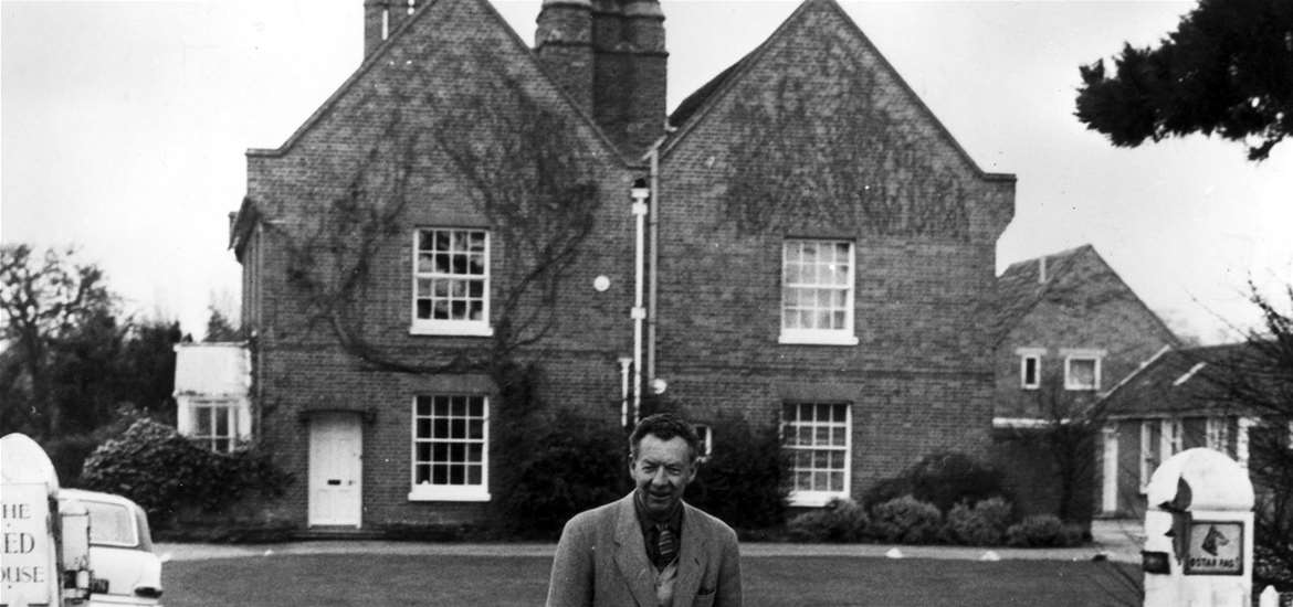 TTDA  - The Red House - Benjamin Britten at The Red House c.1966. Photographer: unidentified, image reproduced courtesy of the Britten-Pears Foundation.