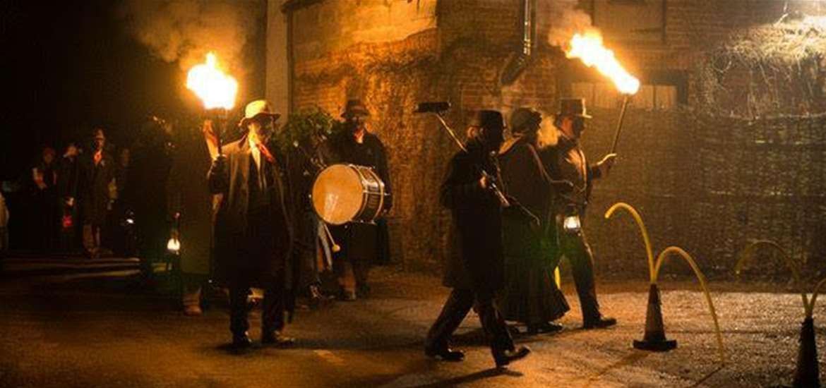The Sweffling White Horse - Wassail Night - Photo from Old Glory Molly Men