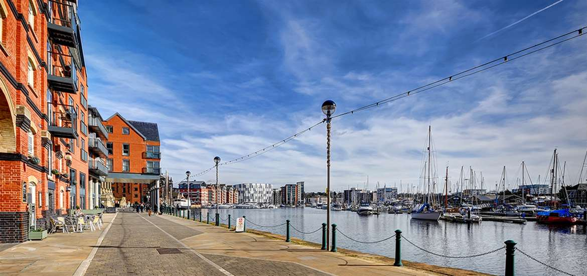 TTDA - Ipswich Town and Waterfront - View of Marina