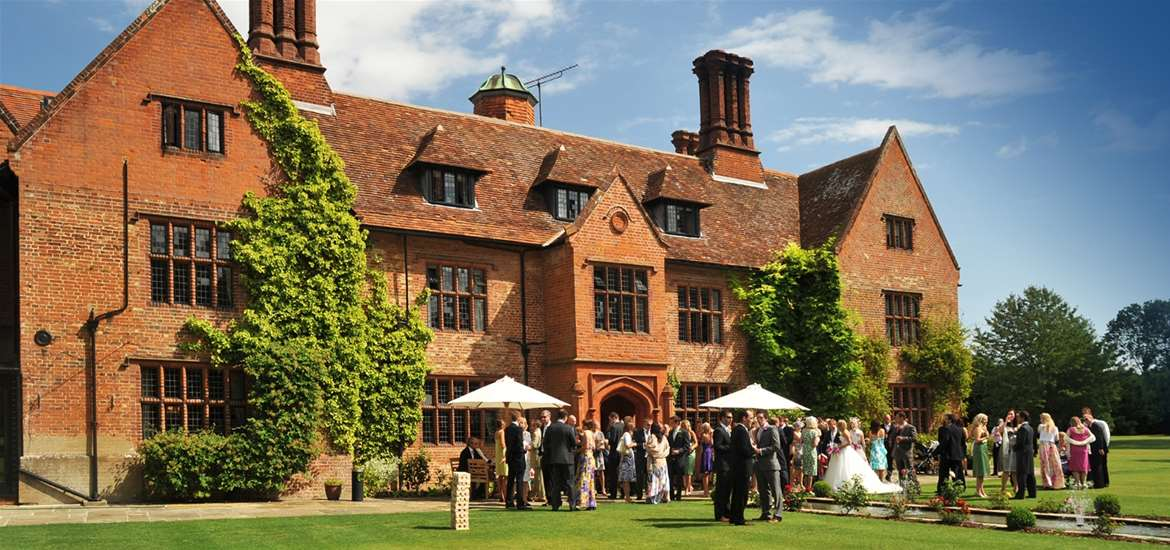 WED - Woodhall Manor - View with wedding party
