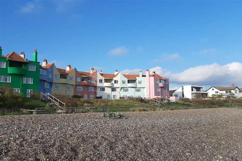 TTDA - Thorpeness Beach - houses at beach