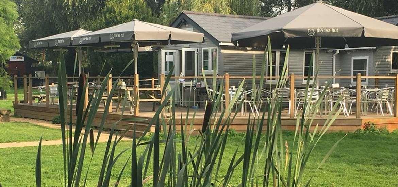 FD - The Tea Hut - through the reeds