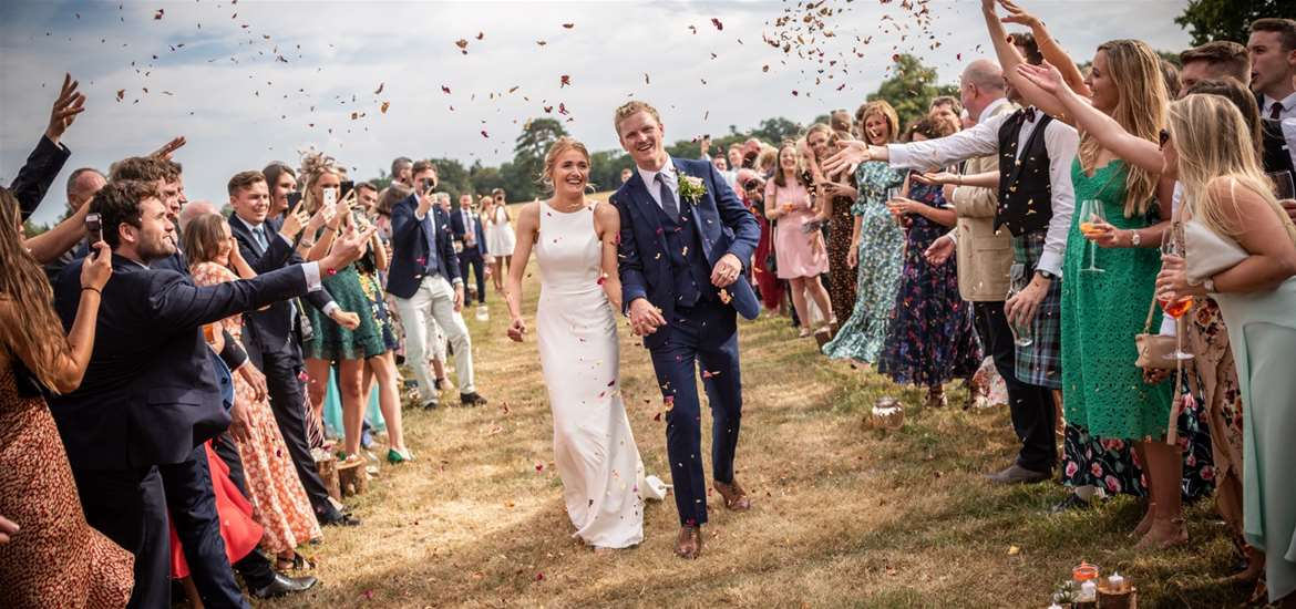 Weddings - Charlotte James Photography - Confetti shot