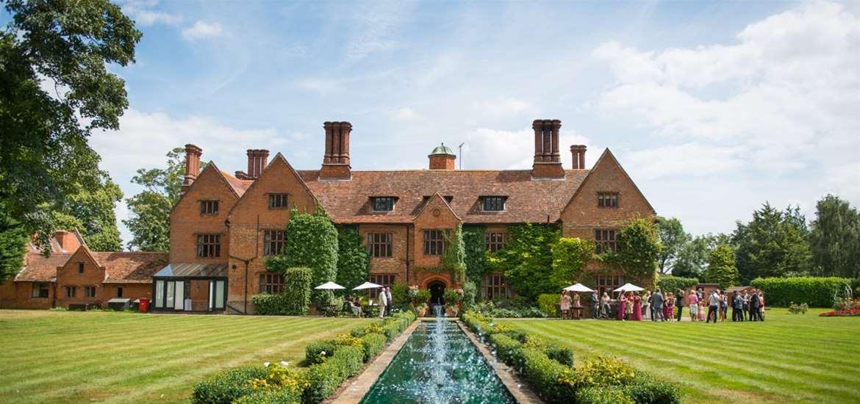 Weddings - Woodhall Manor - View across gardens