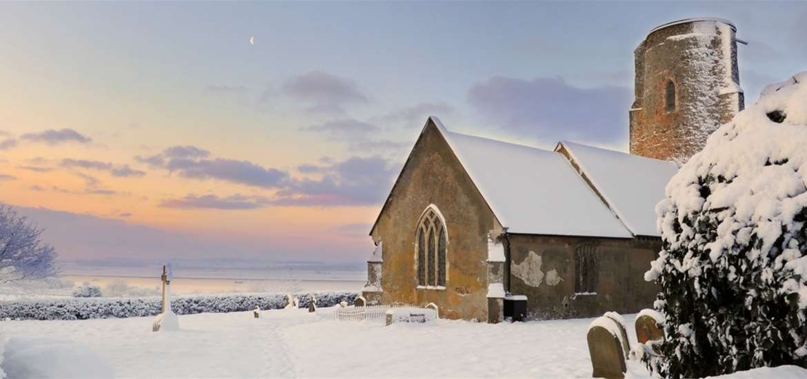 Ramsholt Church in Snow - (c) Gill Moon Photography