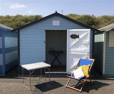 TTD Beach Hut on Pakefield Beach Suffolk