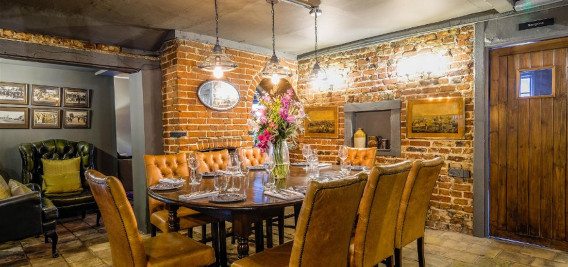 Private dining at The Westleton Crown