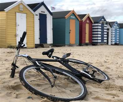 TTDA - Southwold Cycle Hire -  bike on beach