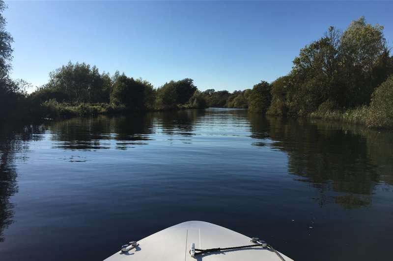 Towns & Villages - Waveney Valley - boat on broads