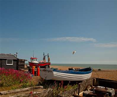 TTDA - Aldeburgh Beach - Boat on beach