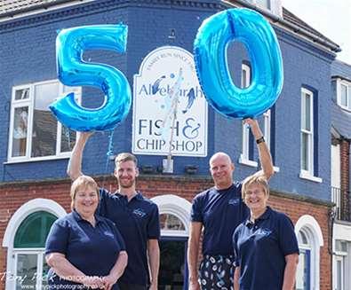 Happy 50th Aldeburgh Fish & Chip Shop!